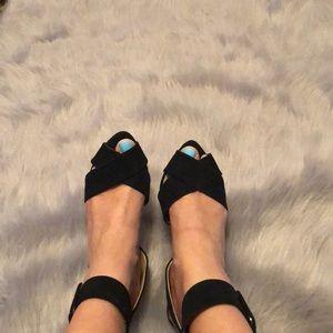 Zara faux suede wrap around heel size 39 (8)